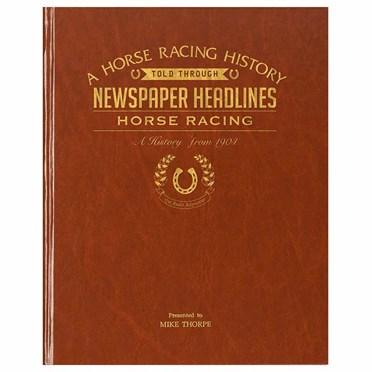 Personalised Horse Racing History Book