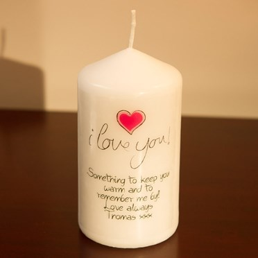 Personalised 'I Love You' Candle