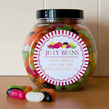 An image of Personalised Jelly Beans Sweet Jar