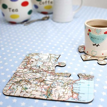 Personalised Jigsaw Coaster Set