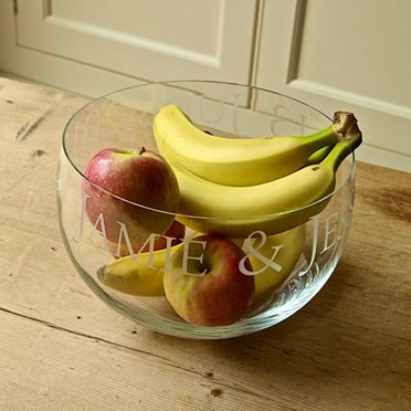 Personalised Large Glass Bowl