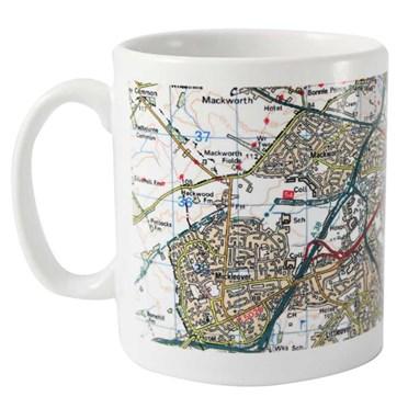 Personalised Map Mug