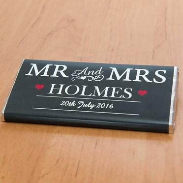 Personalised Mr & Mrs Chocolate Bar