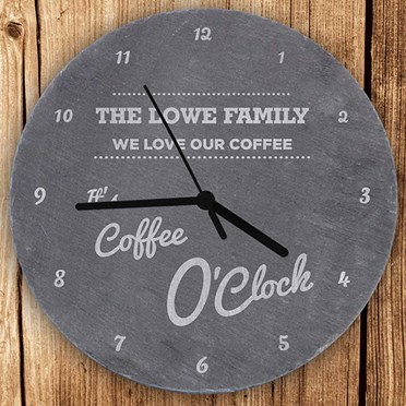 Personalised O'clock Slate Clock