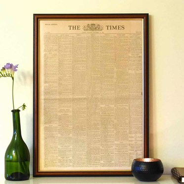 Personalised Original Framed Times Newspaper