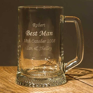 Personalised Pint Stern Glass