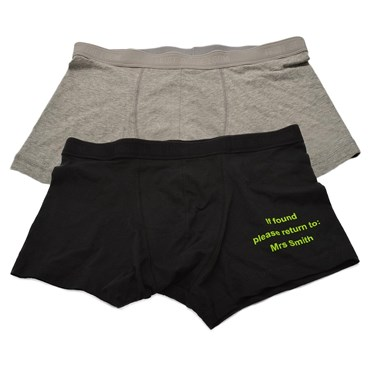 Personalised 'Property of Mrs...' Boxers