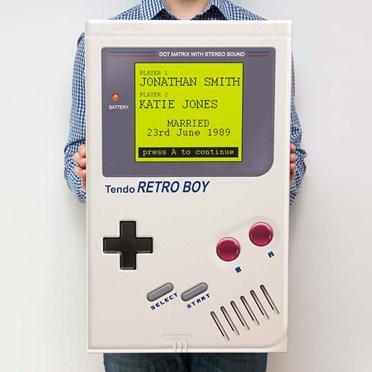 Personalised Retro Gaming Canvas