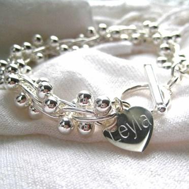 Personalised Silver Charm Bracelet
