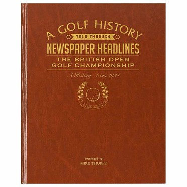 Personalised The Open Golf History Book