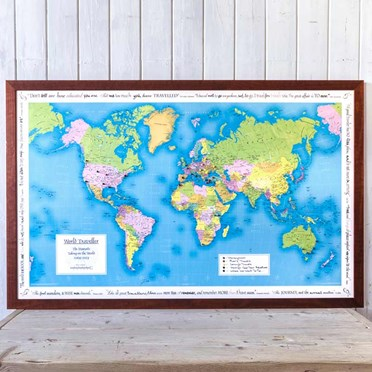 Personalised Travellers Map