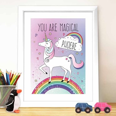 Personalised Unicorn Framed Print