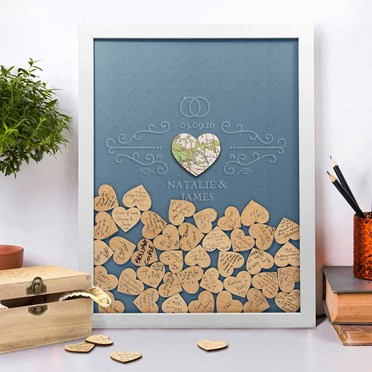 Personalised Wedding Guest Book Drop Box