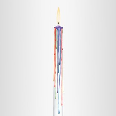 Rainbow Moments Set of 2 Candles