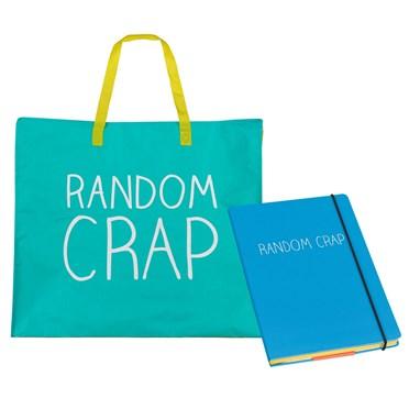 Random Crap Bag & Notebook Set