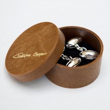 Silver Rugby Ball Cufflinks
