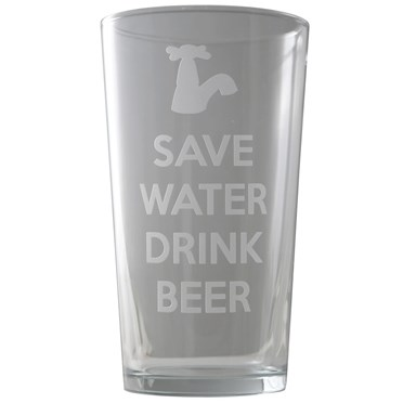 Save Water Drink Beer Pint Glass