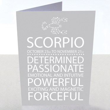 Scorpio Star Sign Card