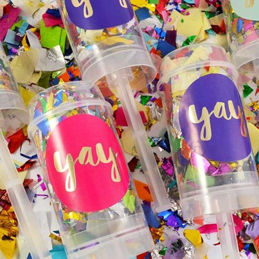 Sparkling Confetti Push Poppers