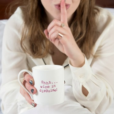 Shhh...Wine In Disguise Mug