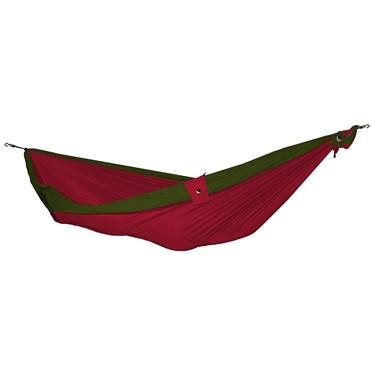 Single Parachute Silk Hammock - Green/Burgundy