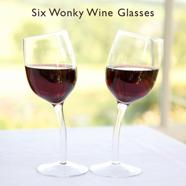Six Wonky Wine Glasses (6 Glasses)