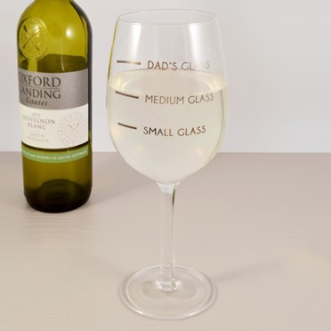 Dad's Measure Wine Glass