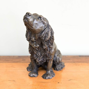 Spaniel Bronze Sculpture