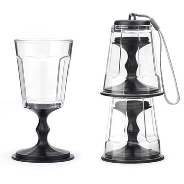 Stacking Portable Wine Glass Set