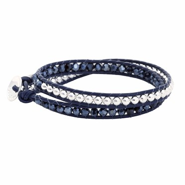 Starry Twist Navy Bracelet