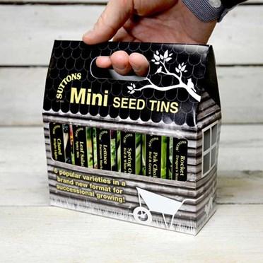 Suttons Salad Mini Seed Tins
