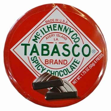 Tabasco Chocolate Wedges in a Tin