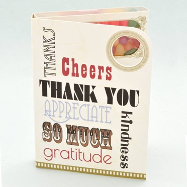 Thank You! Jelly Bean Greetings Card