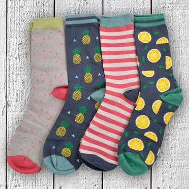Totally Tropical Ladies Bamboo Socks Gift Box Set