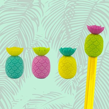 Totally Tropical Pineapple Pencil Eraser Toppers