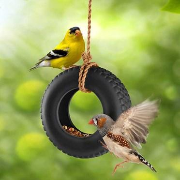 Tyre Swing Bird Feeder