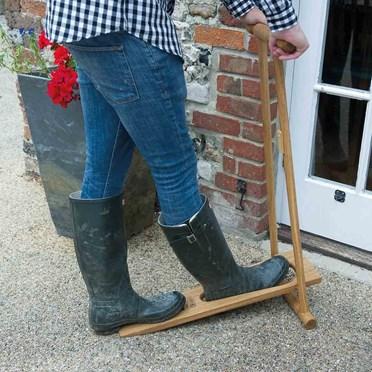 Upright Folding Oak Boot Jack