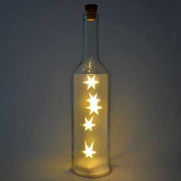 Vintage LED Glass Bottle Light