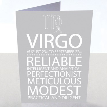 Virgo Star Sign Card
