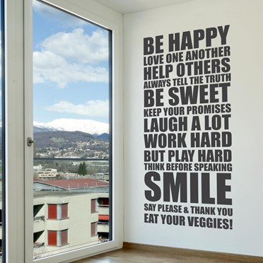 Wall Sticker - Life Rules