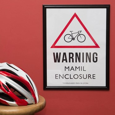 Warning MAMIL Enclosure Framed Print