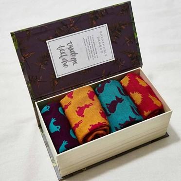 Wonderfully Woodland Ladies Bamboo Socks Gift Box