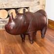 Handmade Leather Rhino - Medium