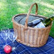 Oval Picnic Basket with Tweed Cooler Bag