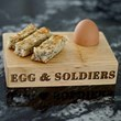 Egg & Soldiers Carved Serving Board