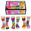 Ladies Polka Face Socks