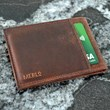 Leather Folding Card Wallet