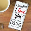 "Personalised ""I Love You More Than"" Chocolate Bar"