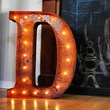 Vintage Rusty Letter Lights