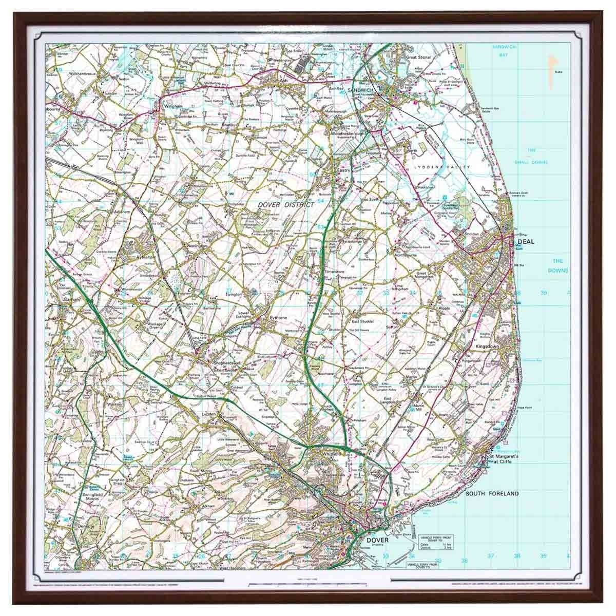 Personalised Os Maps Personalised Framed Ordnance Survey Map | The Present Finder